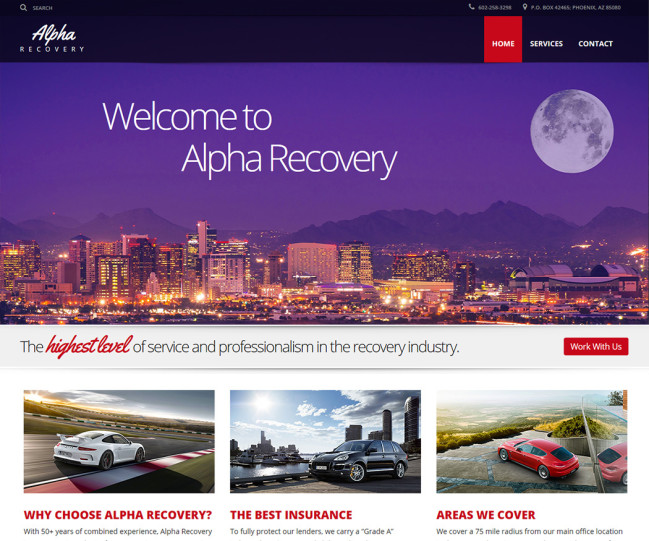 Alpha Recovery - Photo of Home Page