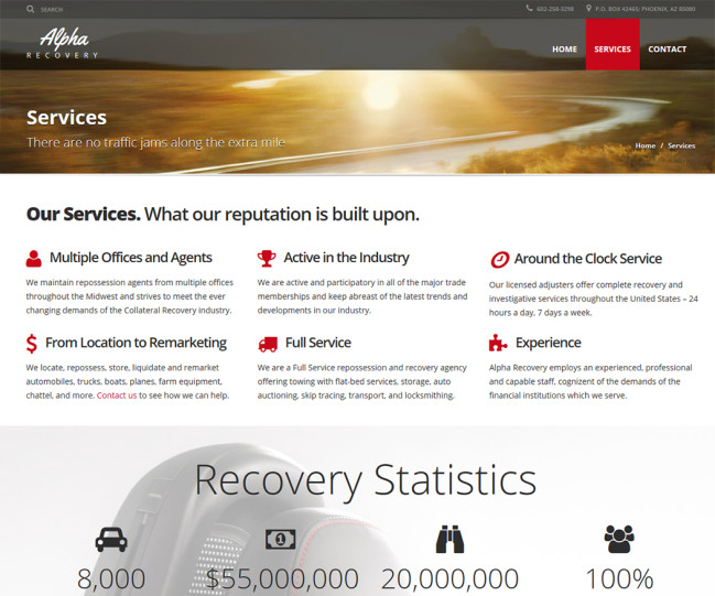 Alpha Recovery - Photo of Services Page