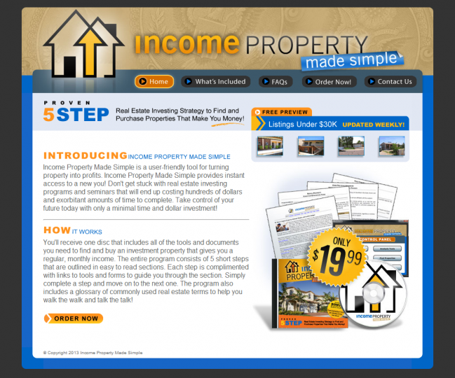 Income Property Made Simple - Photo of Home Page