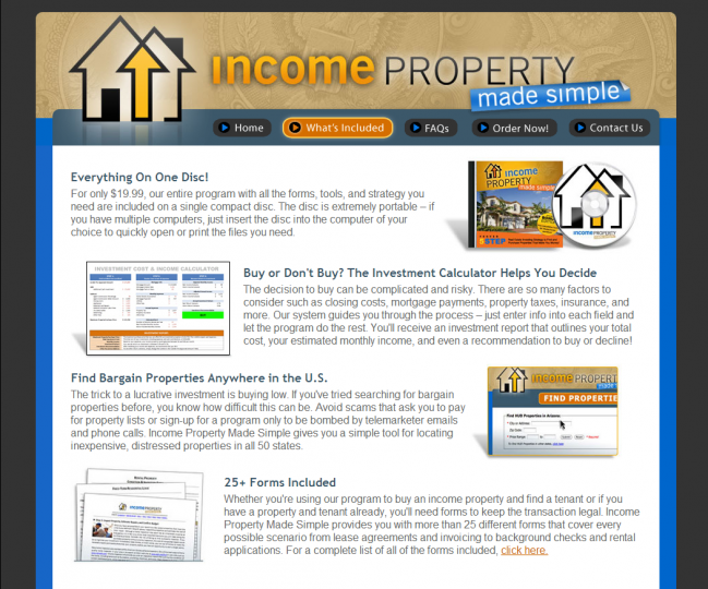 Income Property Made Simple - Photo of What's Included Page