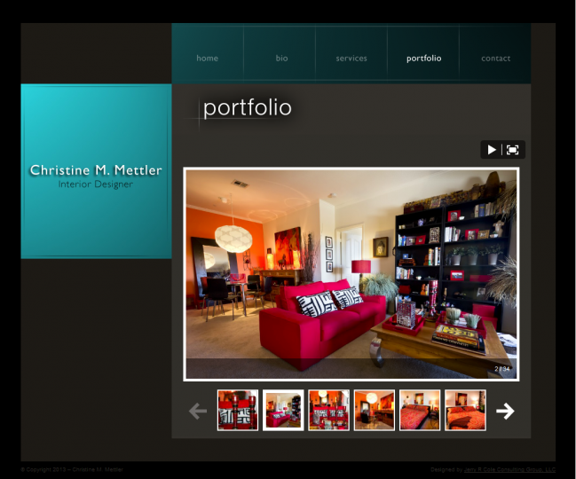 Christine M Mettler Interior Design - Photo of Portfolio Page