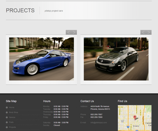 Pitstop Performance - Photo of Projects Page
