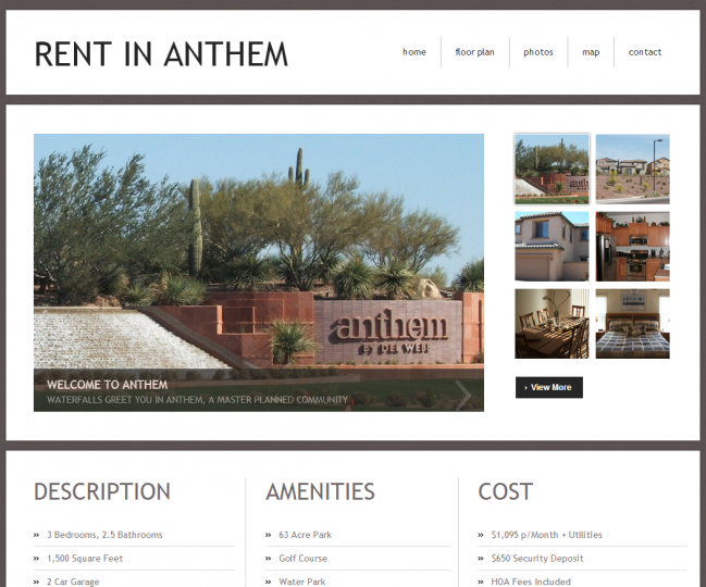 Rent In Anthem - Photo of Home Page