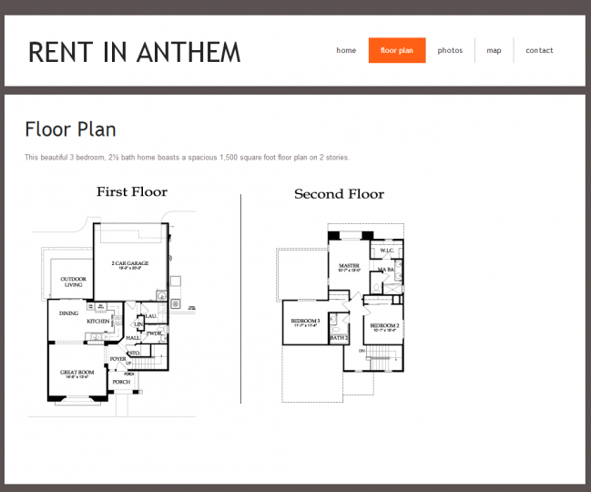 Rent In Anthem - Photo of Floor Plan Page